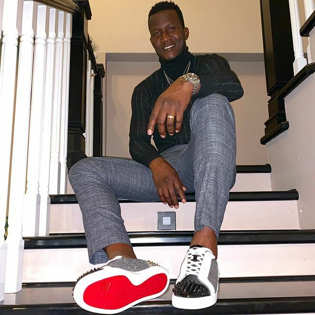One more time for the birthday swag ... these are bloody shoes . . #clarasboy #chocolateman #redbottoms https://ift.tt/34PWygF