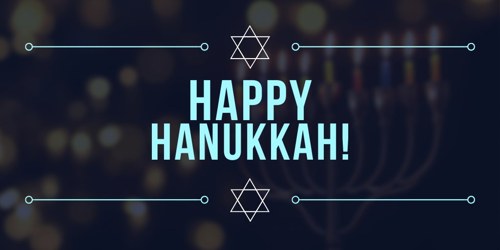 Chag Sameach! Wishing all those celebrating a very happy #Hanukkah 🕎!