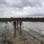 And Sunday morning - marathon training or paddling in mud - not sure which!