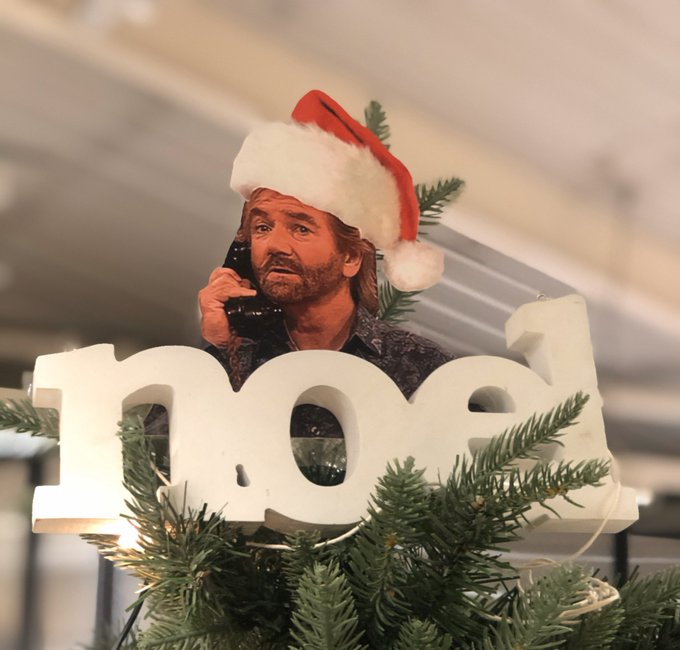 Happy 71st Birthday to Noel Edmonds ... always the star on our office Christmas tree!