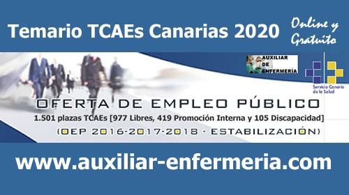 Temario Auxiliares de Enfermería / TCAEs 2020 del Servicio Canario de Salud... Online y Gratuito EMYxxvMXsAATeO4?format=png&name=small
