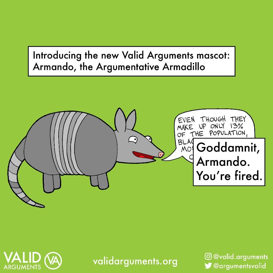 Armando turned out to be very problematic. #validargument #armadillo #debate #racistmeme #racismpic.twitter.com/kXGoFz9zZ7