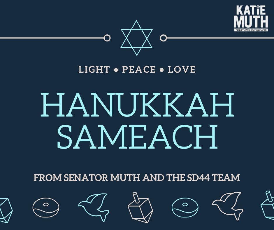 Team Muth wishes you a joy-filled Hanukkah season to all those observing in the 44th!