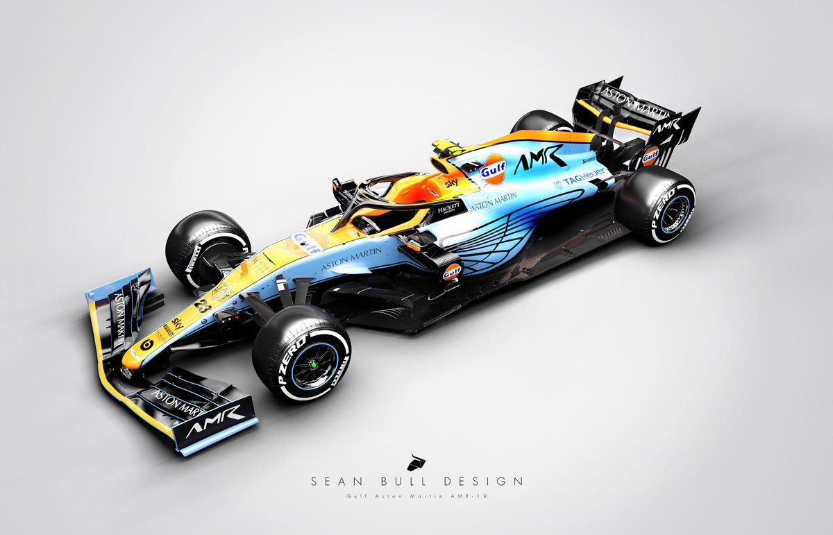 Sean Bull Design On Twitter Gulf Aston Martin F1 Works Team Concept Livery 3d Model By Racesimstudio F1 F12020 Formula1 Astonmartin