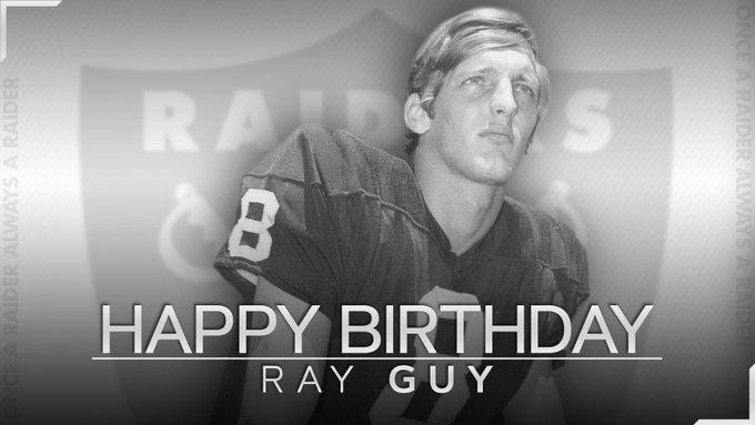 Happy birthday to Hall of Famer, Ray Guy