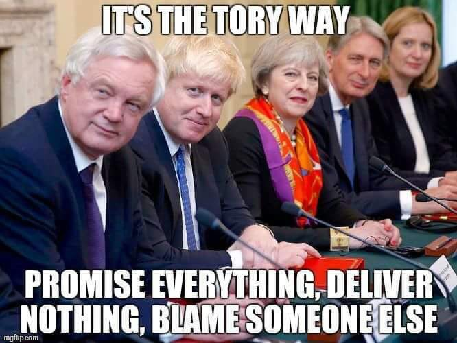 @Femi_Sorry To all the #voteconservativesactually who thought #BorisJohnson was better than #JeremyCorbyn believe #Tories will #GetBrexitDone. Weve got a year! Hope you remember this is a 100% #Tory #Brexit no one else to blame! #C4News #bbcnews #skynews #CorbynWasRight #notmygovernment