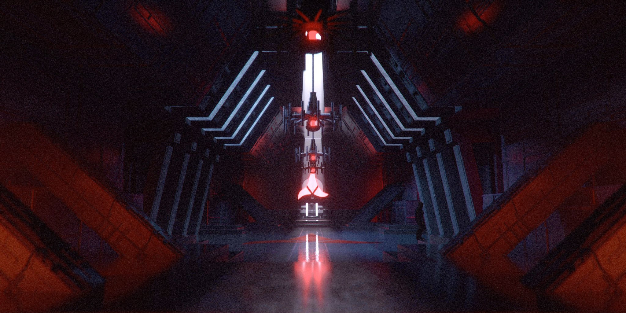 Ds9teasers On Twitter Interior Shot Of The Klingon Great Hall We Based This Shot On An Original Sketch Of Set And Production Designer Richard James In Which The Hall Was Larger And More Cathedral Like Startrek Ds9 Https T Co Xibigdggv8 Https T Co
