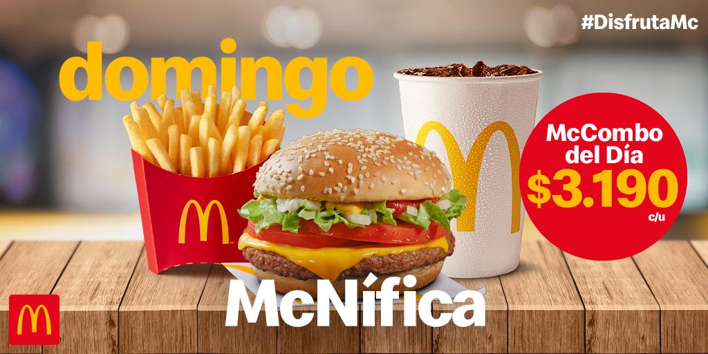 Acompaña tu domingo con el delicioso sabor del McCombo del día McNífica 😋 https://t.co/tb6n0iBEOA