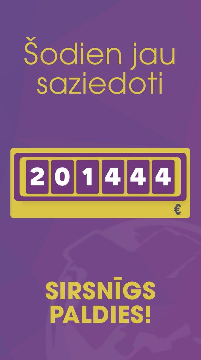 Šodien #DodPieci2019 jau saziedoti 201 444 € ❣️ Liels paldies visiem ziedotājiem! 🖐🏻 #CilvēcīgasBeigas