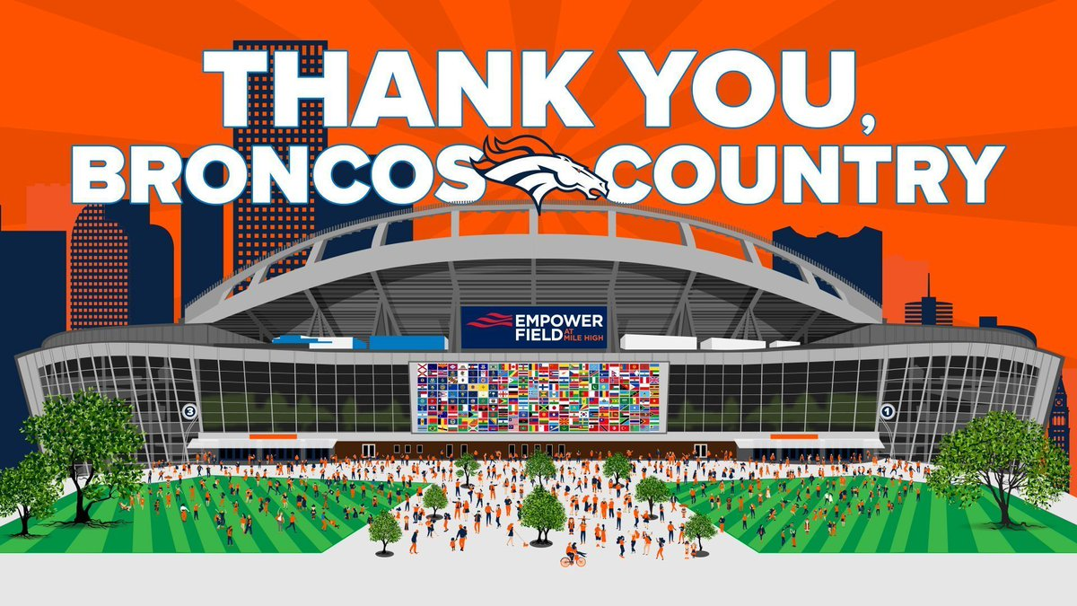 Win, lose or tie —#BroncosCountry 'til we die. THANK YOU to the best fans in the @NFL!