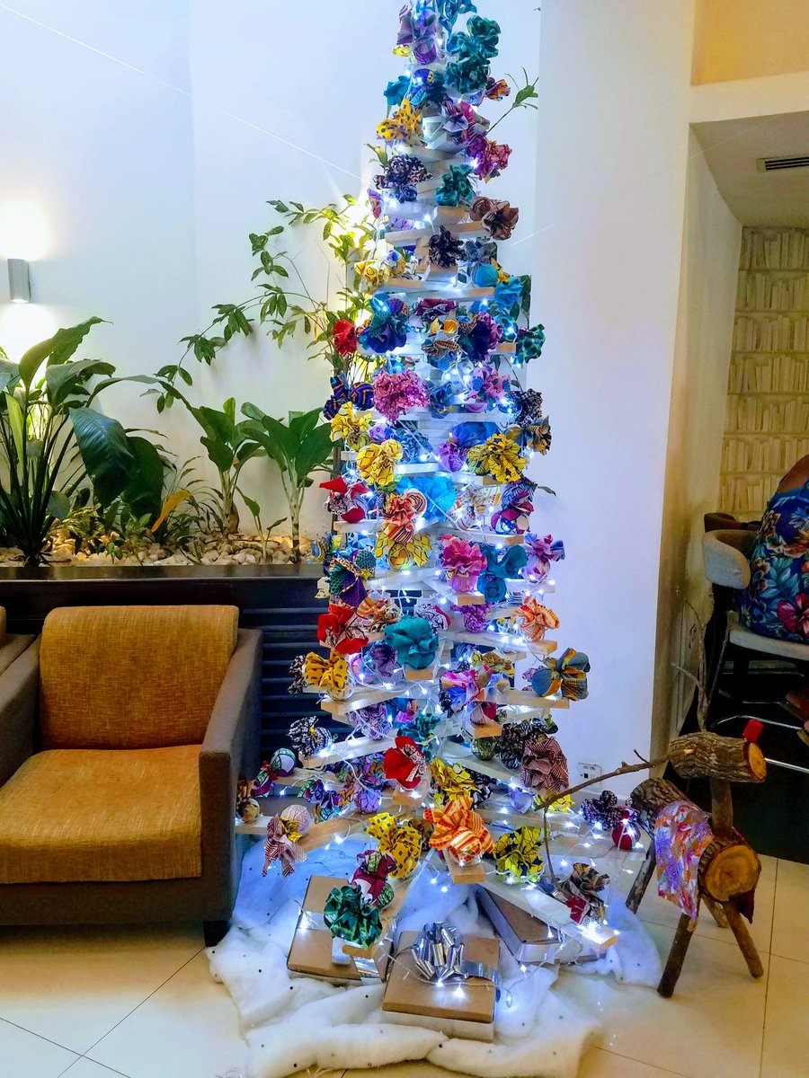 Christmas in Ghana. Look at the creativity of a people...kinte cloth ornaments! #YearOfReturn2019