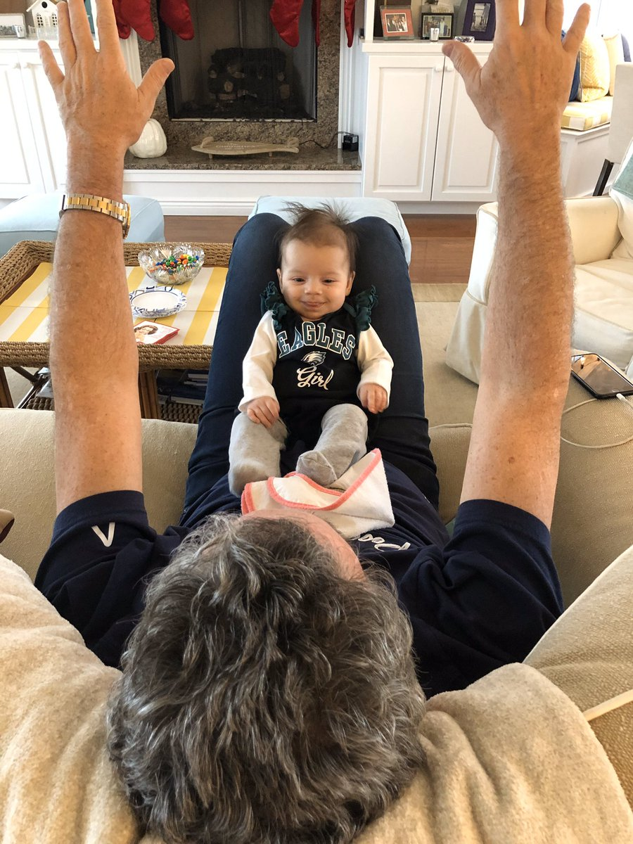 Ella and her grandpop know: Eagles. Playoffs. Never in doubt. #FlyEaglesFly