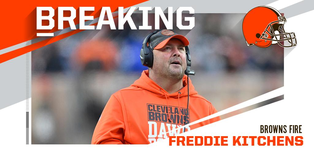 """NFL on Twitter: """"Browns fire head coach Freddie Kitchens.… """""""