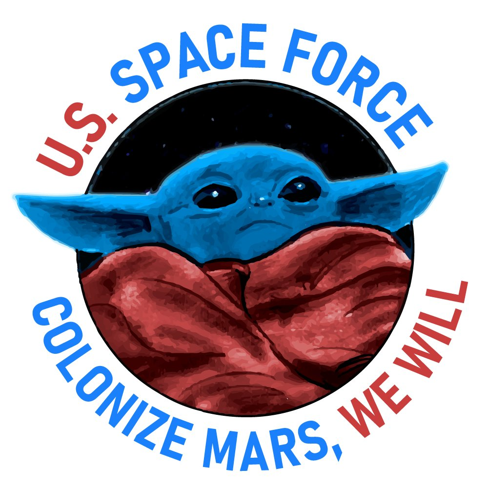My proposed logo for the newly-formed U.S. Space Force.