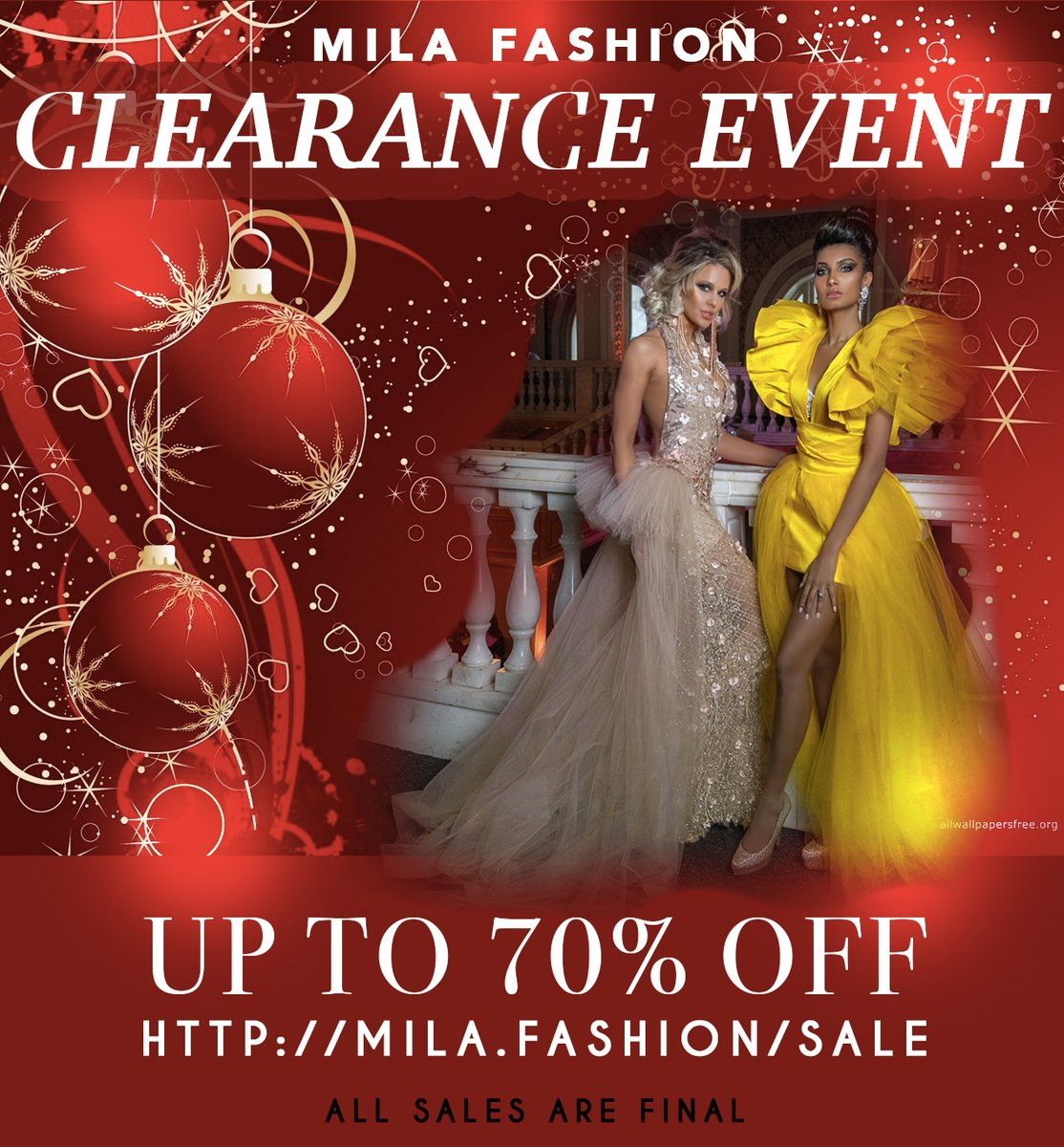 HUGE #clearance https://mila.fashion/sale #celebrities #sale #weddingdress #celebritystylist #redcarpet #lafashion #lastylist #promdress #redcarpet #shopping #shoppingqueen  #lastreetstyle #ootd #influencer #fashionphotography #mogels #couturegowns #couture #styledbyme #holidayspic.twitter.com/iQTRUteQLL