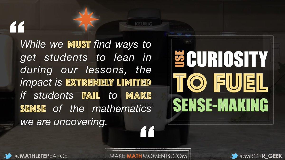 Sparking Curiosity isn't just to make math class 'fun'... ... use it to help Fuel Sense-Making!… https://t.co/kRVAknxbRw
