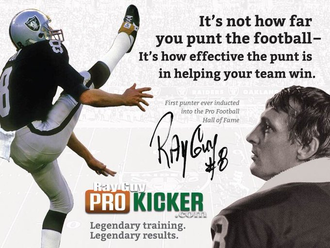 Happy Birthday to the legend, Ray Guy!  Have a great day!!
