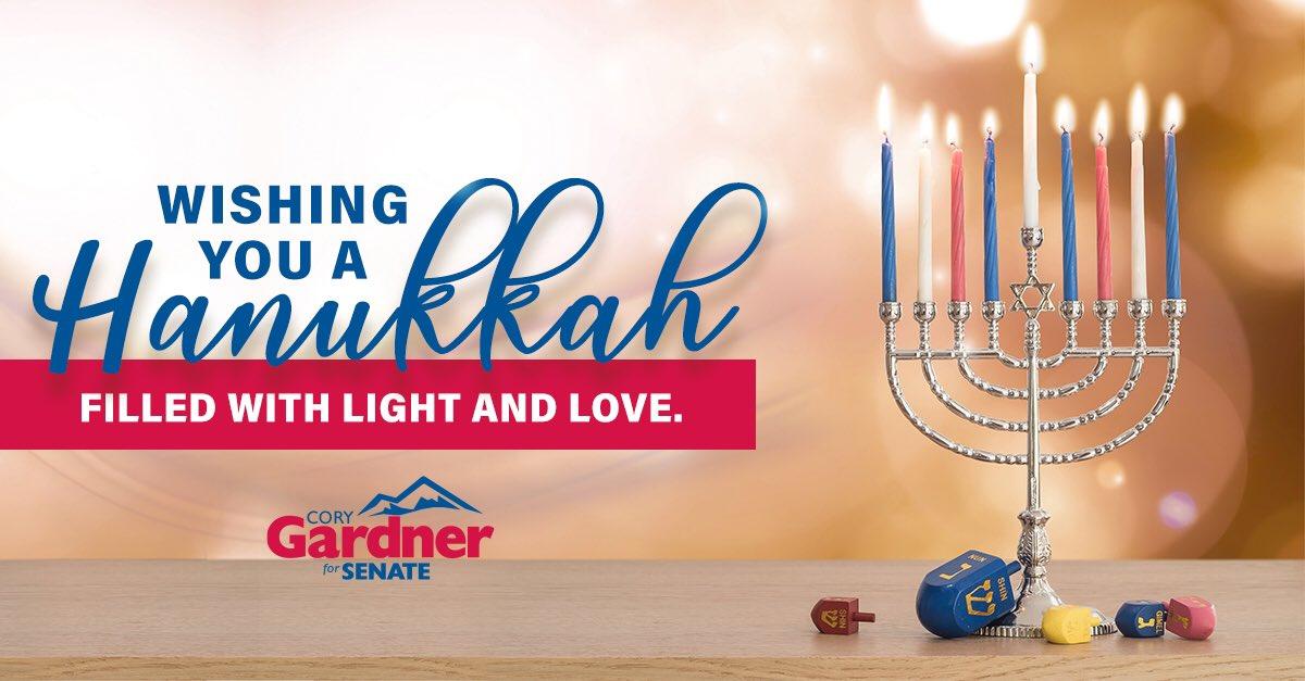Happy Hanukkah to those in Colorado and around the world celebrating tonight!
