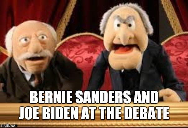 Nathan T Butler On Twitter Joebiden Berniesanders Democrats Debate Trump2020 Oldmen Democraticparty Democratdebate Realtalk Muppets
