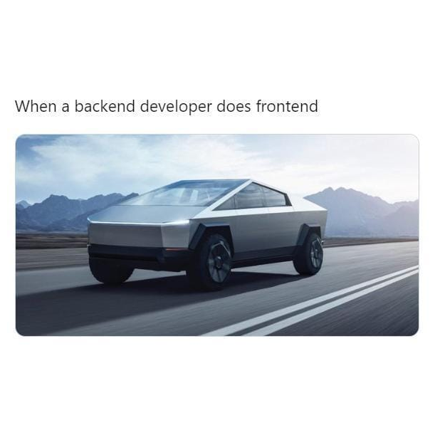 Backend does front End.   #engineering_life #engineeringmemes #engineeringdays #engineeringstudents #engineeringporn #engineeringbasics #engineeringproblems #engineering_jokes #softwareengineering #engineering_memes #engineeringprobspic.twitter.com/g8pcpI7G1E