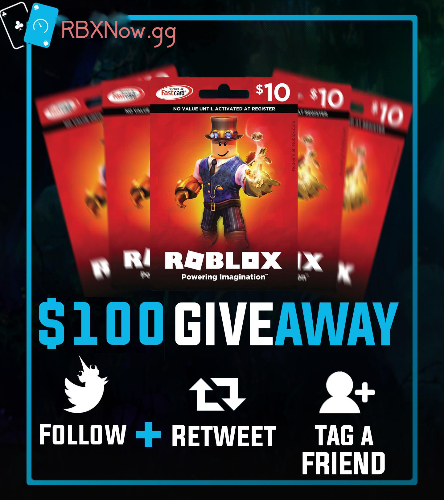 Rbx Now Gg Rbxfast Gg On Twitter 100 Roblox Giftcards 25 Winners How To Enter Complete Offers From The Robux Walls To Have Higher Chance Of Winning Https T Co Tkvtnn7reg Follow Instagram Https T Co 1umxqtvlvy Follow Rbxnowgg Retweet