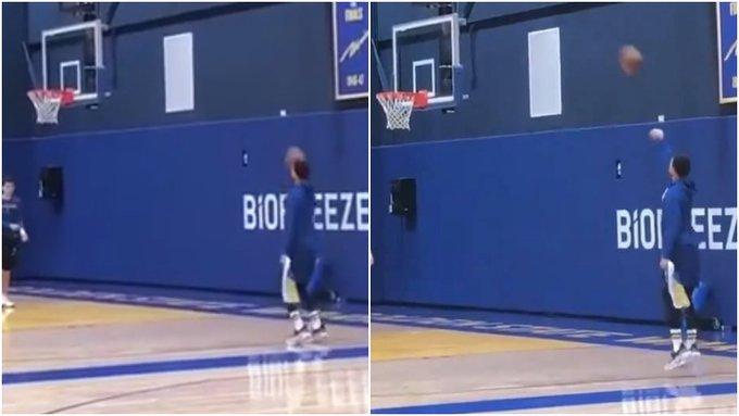 【影片】左手未傷癒,柯瑞訓練中用右手練習單手三分,命中率依舊驚人!