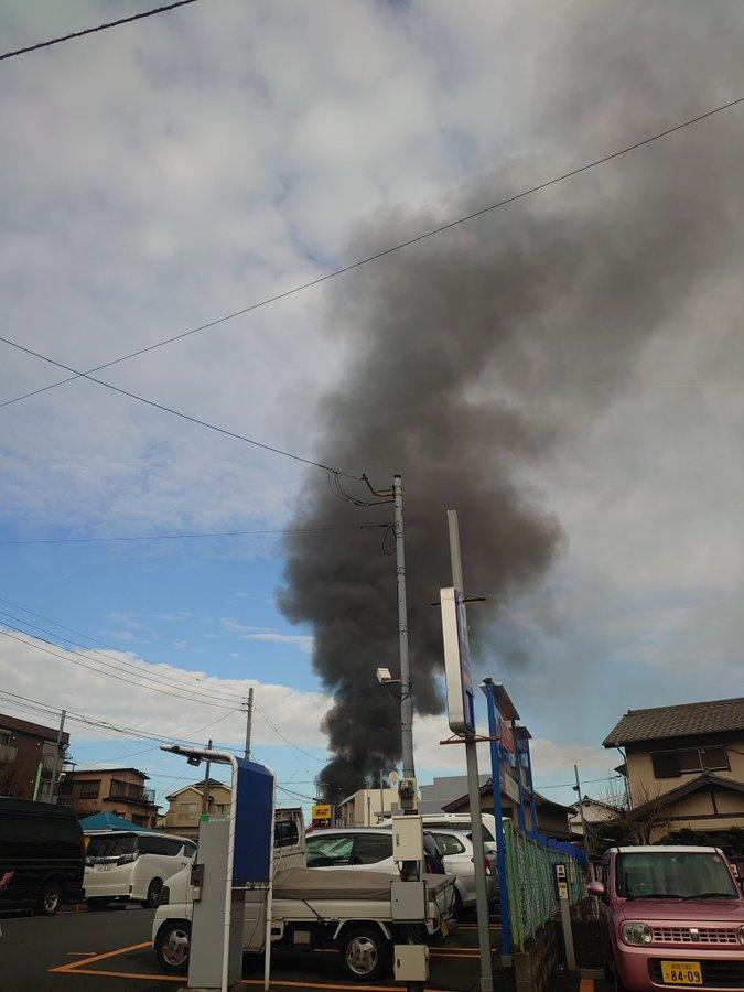 千葉市中央区弁天で火事が起きてる現場の画像