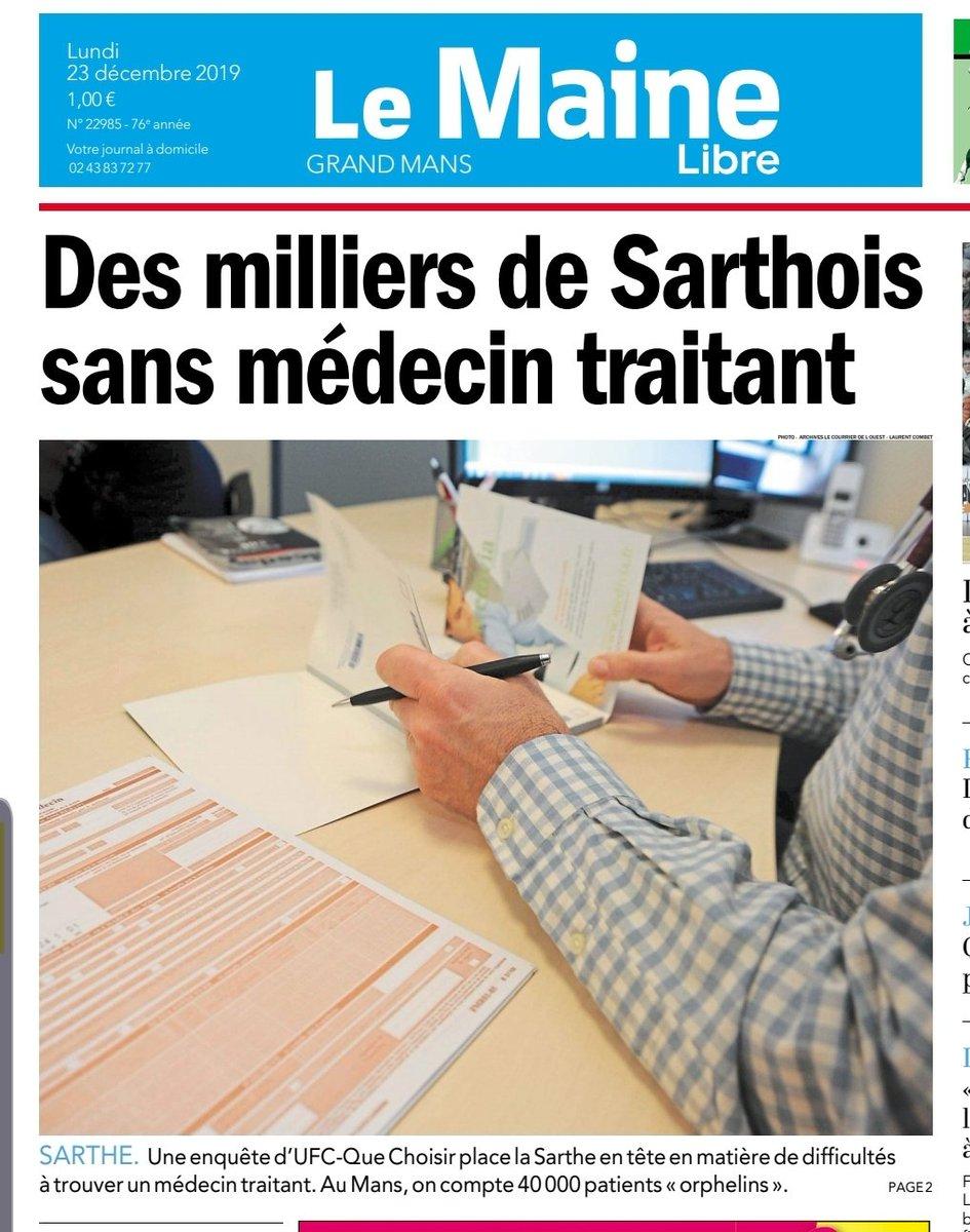 """Rottier Jean-Bernard on Twitter: """"9 9 manceaux sans médecin"""