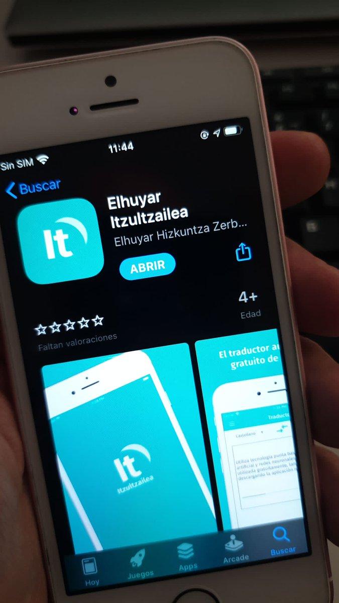 iOS mugikorra daukazu eta @Elhuyar-en #Itzultzailea erabili nahi duzu? Bada, hemen duzu aplikazioa: https://t.co/TQyvVU74WB https://t.co/JSLgg8YMhB