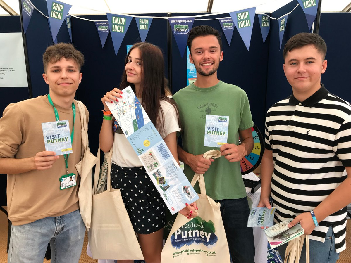 Today we are thankful to @RoehamptonUni for hosting an incredible #FreshersFair this year. We were able to hand out 2000 fliers and promote #Putney to their students. A very successful day indeed!