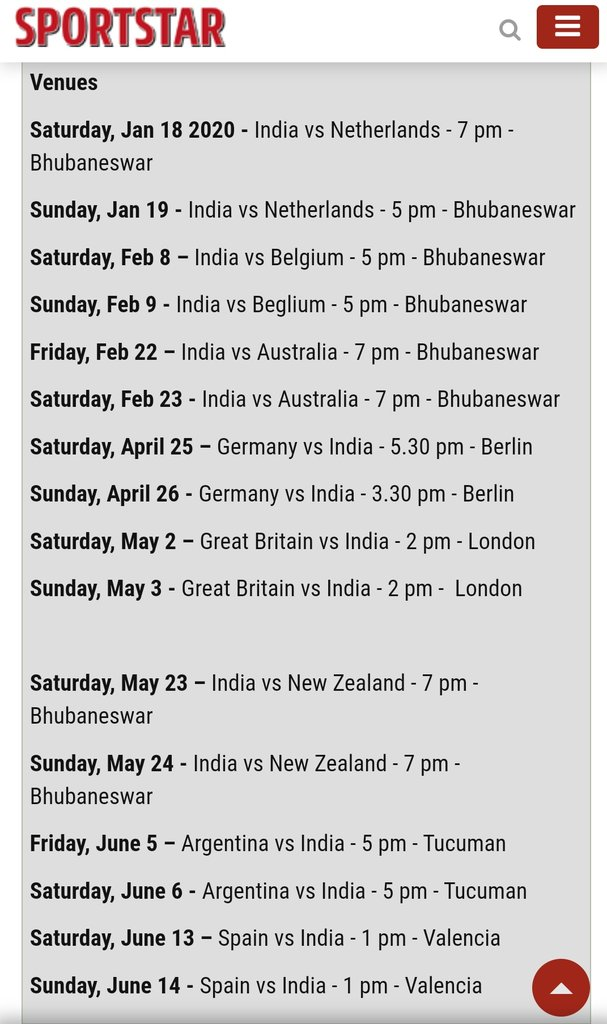 @shashidigital @rkupadhyay why none from AIR responding? Why #FIHProLeague 🏑 isn't covered?THIS IS 3RD ROUND MATCHES AND AIR YET TO REPLY!!!#INDvAUS on Feb 22-23. @akashvanisports WHY R U ON SILENT MODE? WHY NO COVERAGE? CAN ANY1 REVERT? 👇