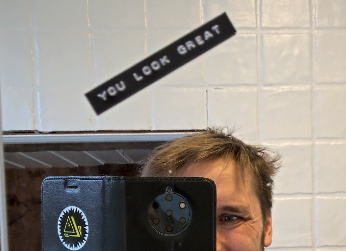 Mece On Twitter My Mirror Has This Sticker That Says You Look Great And I Can Never Tell Whem It S Being Sarcastic Sarcasticmirror Https T Co Fhiljm4a4a