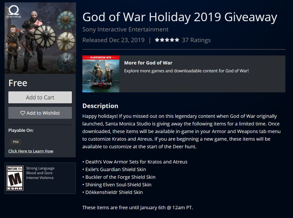 Wario64 On Twitter God Of War Holiday 2019 Giveaway Is