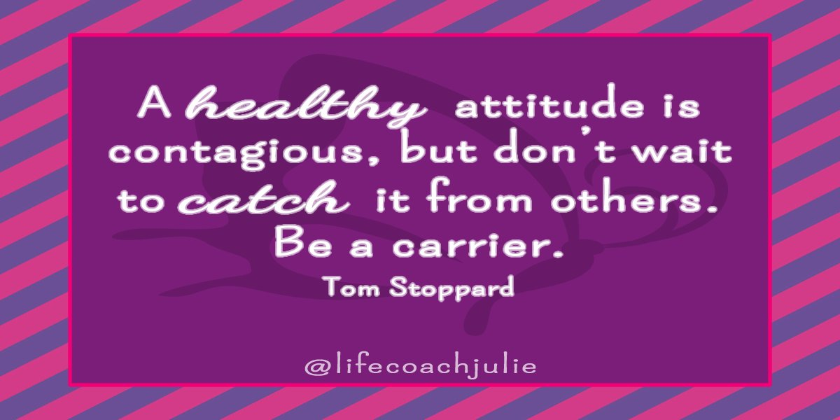 A healthy attitude is contagious, but don't wait to catch it from others. Be a carrier. Tom Stoppard #lifequotesandsayings #quotes<br>http://pic.twitter.com/PxkvaelTn0