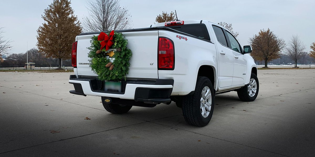 Red bows, the scent of pine cones and a truck to get the big tree home. #HappyHolidays