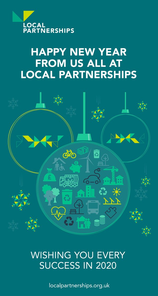Happy new year from us all at Local Partnerships!  ✨🍾🙌  Wishing you every success in 2020.
