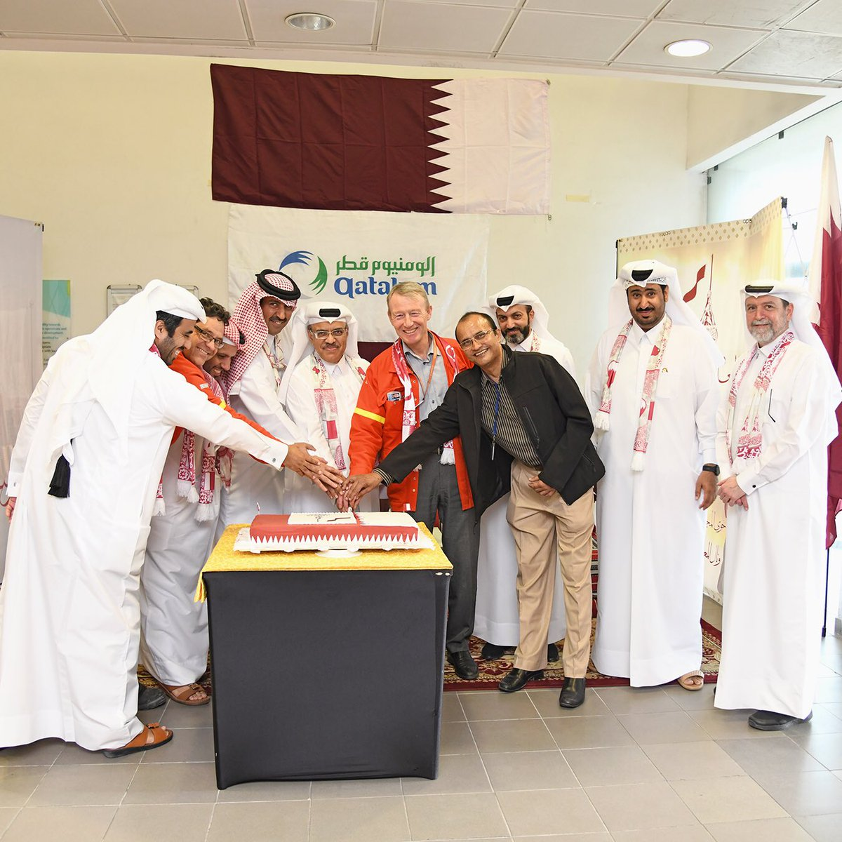 Qatalum celebrates Qatar National Day. #QND #QNV2030 #QATAR #QATALUM