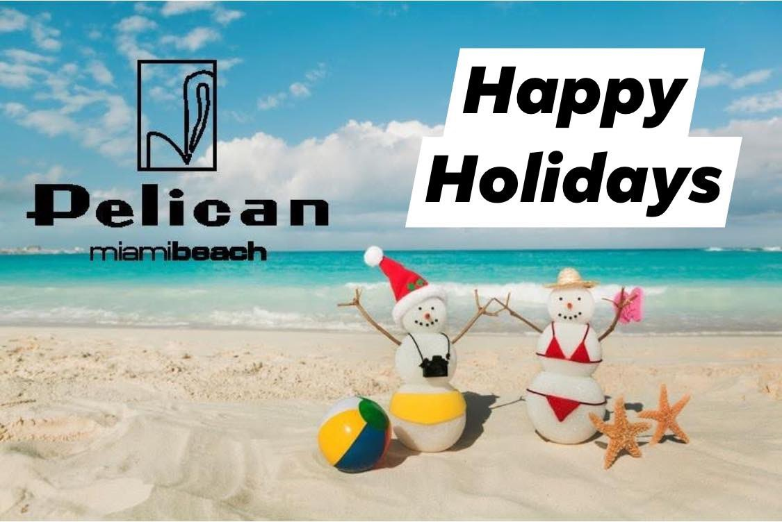 From our family to yours. Wishing you a Happy Holiday Season. We can't wait for 2020! #grandopening @Pelican_Hotel   #photooftheday #aroundthepelican #miami #christmas #holidays #love