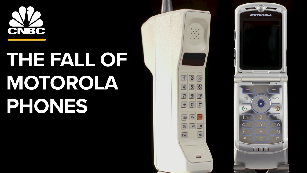 Motorola Mobility just announced its new foldable Razr smartphone, but is it enough to pull the company out of obscurity? Watch this video to see the rise and fall of Motorola. https://cnb.cx/38XvLCJ