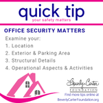 Offices can be a target for robberies and theft.  Ensure your office has a current policy in effect.  🏢💗