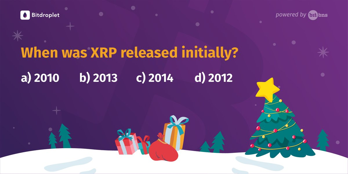 Answer a simple question about @Ripple (XRP) and stand a chance to #win a surprise #XRP #reward, this Christmas. Leave your answer in the comments below. #12AltCoinsChristmas  #XRPCommunity #Cryptocurrency #XRPContest #Blockchain #cryptocurrencygiveaway