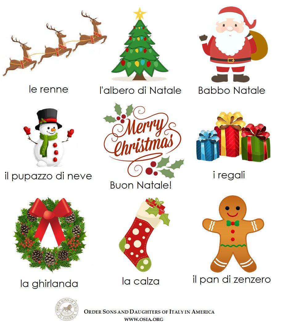 Buon Natale! Get in the spirit with Italian Christmas vocabulary! #osdia #italianchristmas #italianvocab