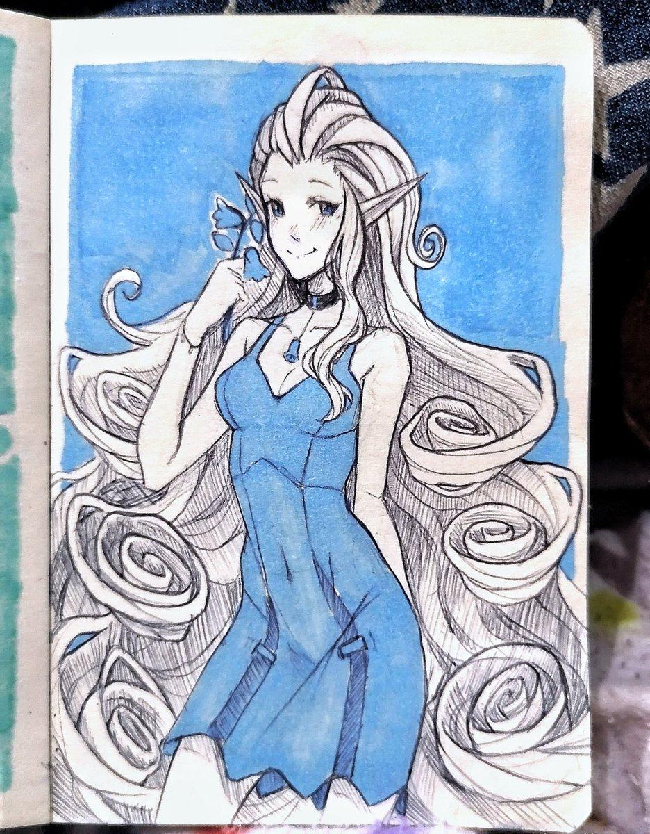 Bluebell + short dress #Inktober2019 #inktober #inktoberday9