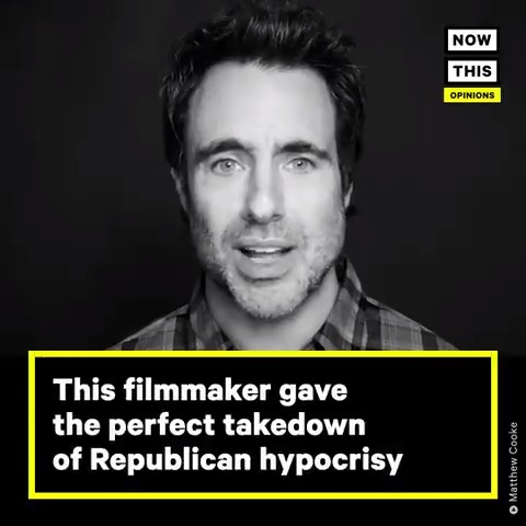 'You're not going to silence our voice' — Filmmaker @thematthewcooke offered this comprehensive and passionate takedown of Republican hypocrisy