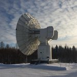 Image for the Tweet beginning: First light at Metsähovi Geodetic