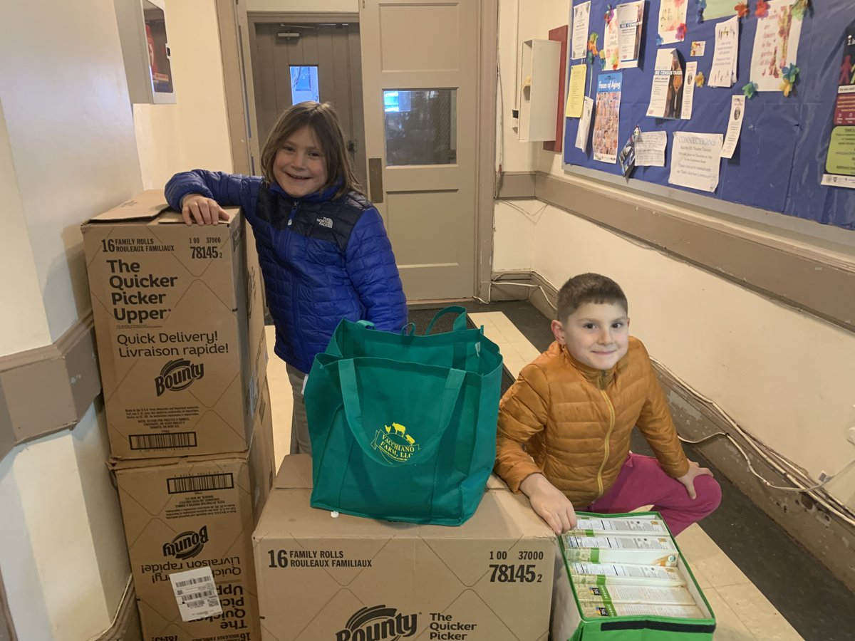 Cole and Jackson collected item for our guests. Thank you!