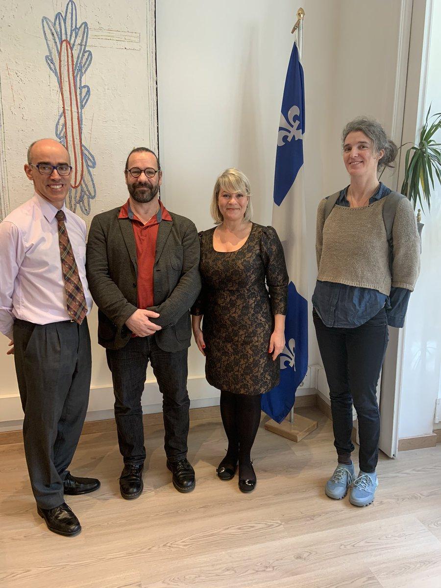 Pierre Charette du RISQ et Laura Espiau Guarner de CITIES étaient de passage à Barcelone pour présenter des initiatives québécoises en matière  de financement de l'économie sociale à leurs homologues catalans. #meilleurespratiques  https://t.co/B9DKw34awZ https://t.co/vr0DZn55VS https://t.co/vfEnd9ku94