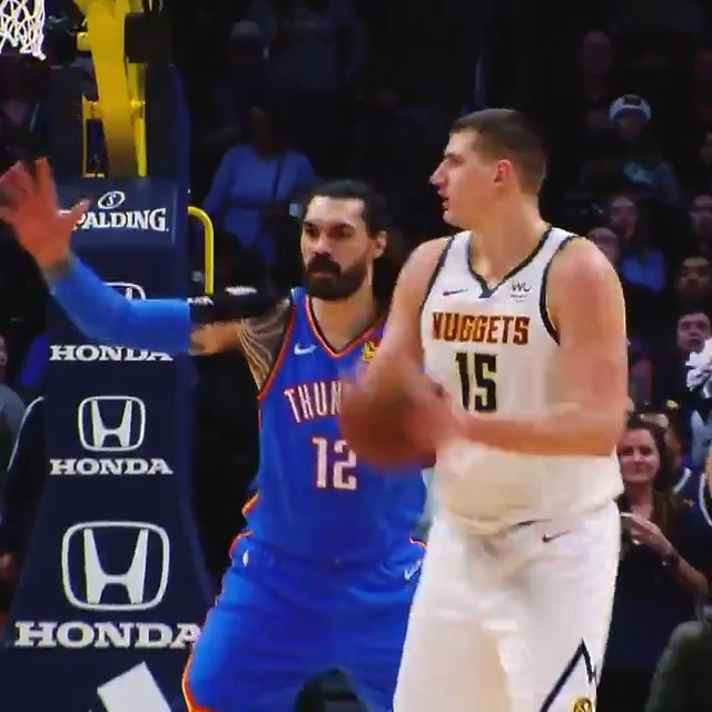 Nikola Jokic's INSANE passing ability!  Joker dropped 16 PTS, 22 REB and 13 AST in Game 7 to lift the @nuggets to the Western Conference Finals!  Game 1 ▶️ Friday, 9pm/et, TNT https://t.co/rI7gx6Zwao