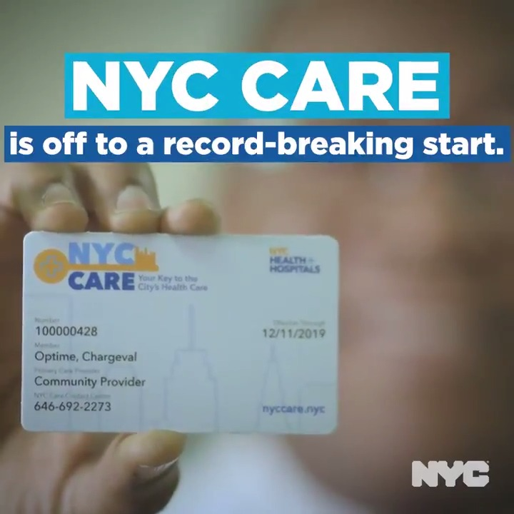Image for the Tweet beginning: NYC Care has already broken