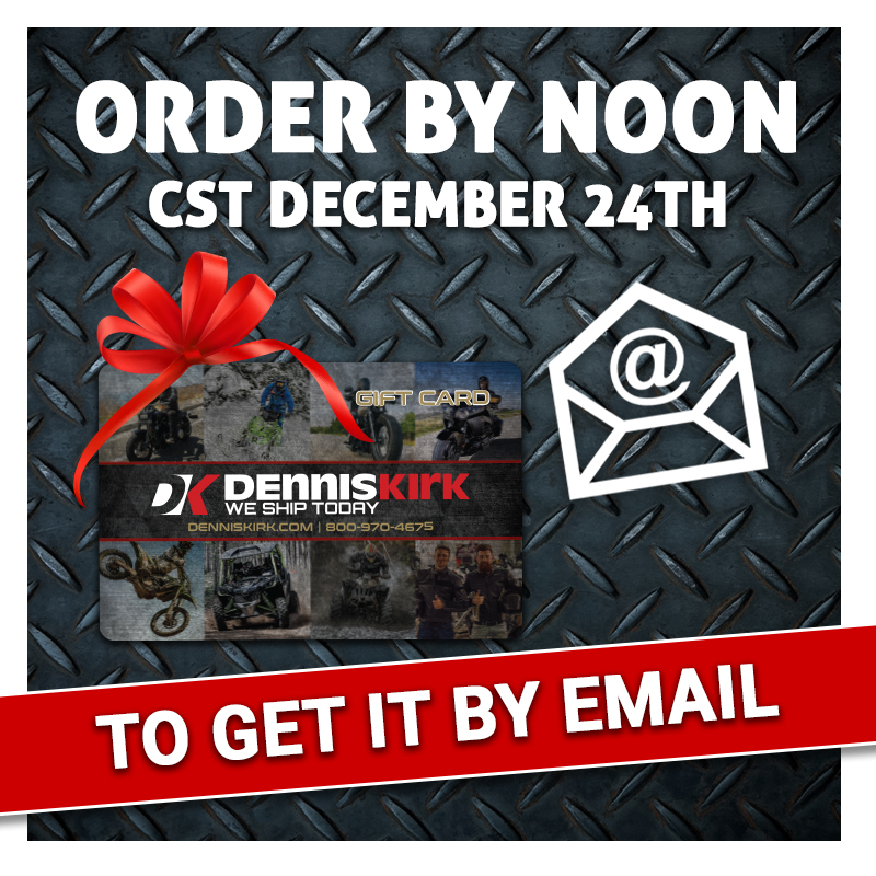 Looking for the perfect last minute gift?🎁 We've got you covered! Purchase your eGift Card by Noon CST TOMORROW, December 24th, to receive it by Christmas!🎄 🔗https://t.co/XwLq0AtFL8  #ridemorewaitless🚚📦🏍️ #denniskirk #lastminutegift https://t.co/jgLMBA5VtW